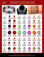 Swarovski Beads: Swarovski Crystal Beads and Swarovski Jewelry Beads Stores. Faceted Swarovski Crystal Beads: Jet, Light Siam, Peridot, Aquamarine, Rose, Topaz and Black Diamond Swarovski Crystal Beads.