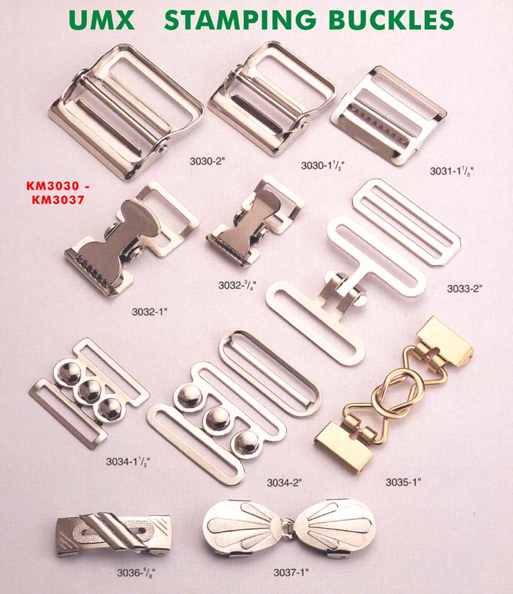 large picture of two-piece combination stamping buckle set