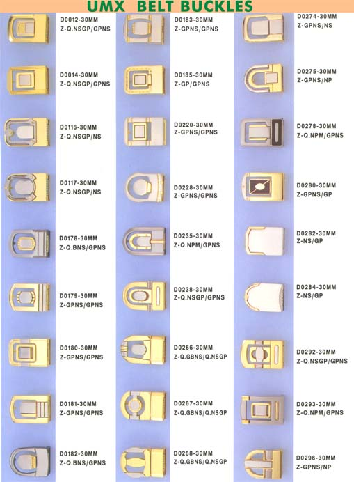 Belt Buckle Series D with Clamp