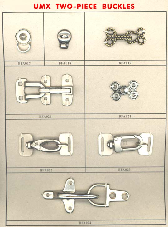 two-piece buckles with hooks series A-3