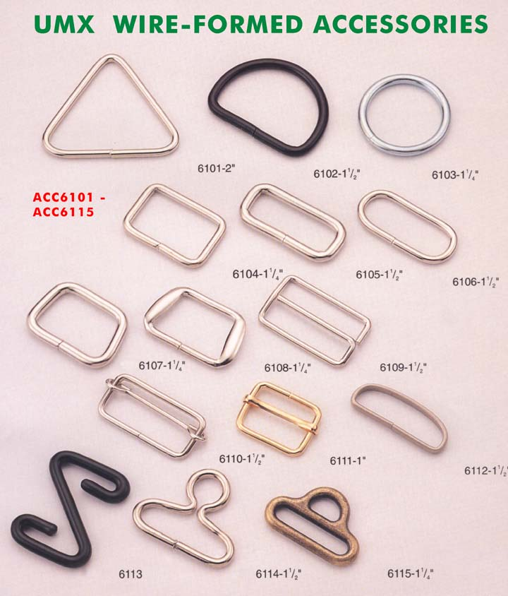 large pciture of connectors, rings, loops, hooks series