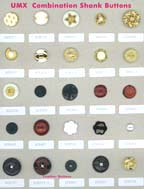 Series A-2 fashion buttons: combination shank buttons, rubber buttons, polyester buttons, ABS buttons, metal buttons, plastic buttons