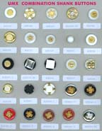 Series A-3 fashion buttons: combination shank buttons, polyester buttons, acrylic buttons, ABS buttons, metal buttons, rubber buttons.