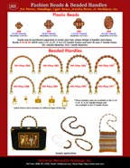 Catalogue - Fashion Handbag Hardware - Antique or Bone Style Beads and Beaded Purse Handles - HH-Pxx-284-291