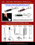 Purse Lights, Handbag Light Supplies and Universal Strings