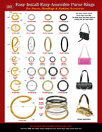 Easy Install and Easy Assemble Purse Rings, Handbag Strap Round and Oval Ring Buckle Catalogs: For Handbag, Purse, Tote Bag, Wooden Cigar Box, Travel Bag, Carrying Bag or Hand Bag Straps.
