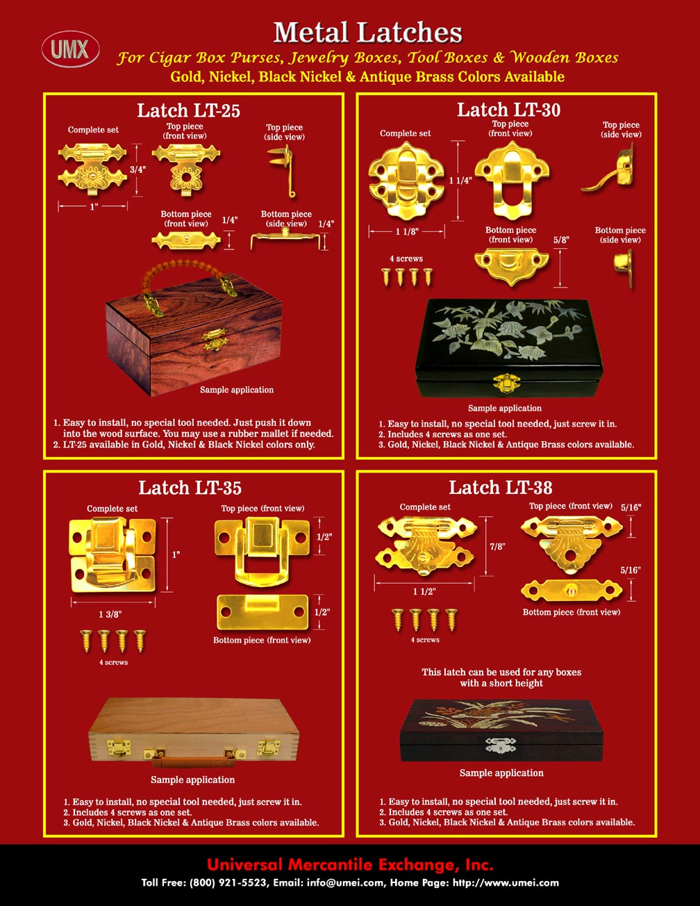 Latches Catalogue Wholesale Cigar Box Purse Latch And