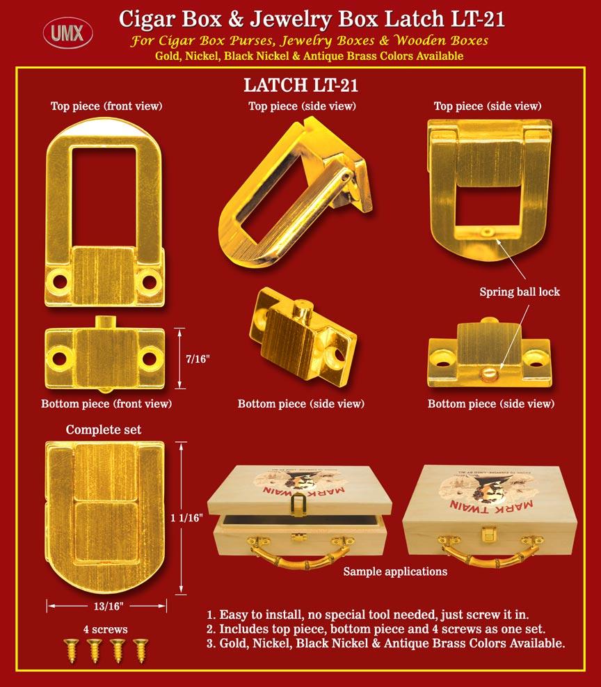 Durable Wooden Box Latches Box Purse Latch Cigar Box