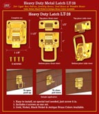 Wooden Tool Box Latches: Wood Tool Box Latch Lock Systems.