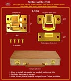 Semi Heavy Duty Low Profile Toolbox Latch: Square Toolbox Latch Locking Hardware.