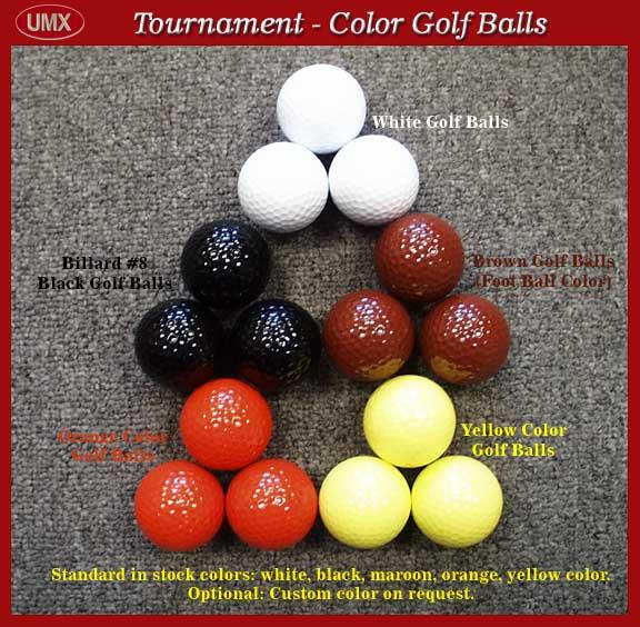 tournament color golf balls white black yellow brown. Black Bedroom Furniture Sets. Home Design Ideas