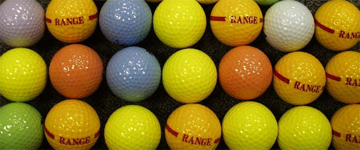 Color Golf Balls: Blank, White, Black, Red, Yellow, Blue, Green Color Golf Balls
