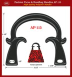 Designer Handbag, Purse: Stylish horn handbag handle