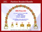 Antique Beads or Bone Beads Style Beads Designer Purse Hardware - Beaded Handbag Handles - HH-Pxx-288