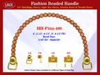HH-Pxx-400 Beaded Handle With Carved Flower Bali Beads For Designer Handbag Making Hardware Supplies