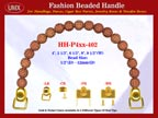 HH-Pxx-402 Beaded Handle With Daisy Flower Round Bali Beads For Designer Handbag Making