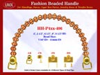 HH-Pxx-406 Beaded Handle with Carved Flower Drum Spacer Bali Bone Beads For Designer Handbag Making