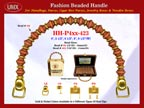HH-Pxx-423 Beaded Handle with Bicone Behive Beads and Round Spacer Beads For Wholesale Handbag Making Supplies