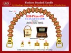 HH-Pxx-428 Beaded Handle with Saucer Bali Beads and Round Metal Spacer Beads For Wholesale Handbag Making Supplies