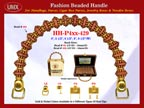 HH-Pxx-429 Beaded Handle with Double Flower Disk Beads and Gold Spacer Beads For Wholesale Handbag Making Supplies