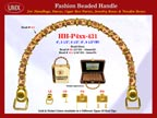 HH-Pxx-431 Beaded Handle with Flower Barrel Tube Beads and Gold Color Beads For Wholesale Handbag Making Supplies