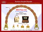 Wholesale Handbags Handle HH-Pxx-432 With Holly Cross Tube Bali Beads and Metal Beads.