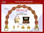 Wholesale Handbags Handles HH-Pxx-435 With Carved Bali Beads, Bali Beads, Flower Bali Bead Patterns