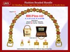 Wholesale Handbags Handles HH-Pxx-442 With Bali Beads, Bone Color Bali Beads, Art Crafted Bali Beads