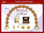 Wholesale Handbag Handles HH-Pxx-444 With Carved Rondelle Saucer Beads