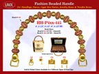 Wholesale Handbag Handles HH-Pxx-445 With Double Flower Pattern Bali Beads