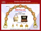 Wholesale Handbag Handles HH-Pxx-446 With Walnut Bali Beads, Carved Walnut Beads