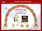 Wholesale Handbag Handle HH-Pxx-449 With Pillow Bead Pattern Bali Beads