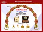 Wholesale Handbag Handles HH-Pxx-452 With Designed Art Bali Beads, Flat Tube Bali Beads