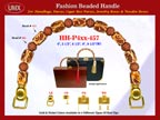 Wholesale Designer Purses Handles HH-Pxx-457 With Wholesale Nugget Beads and Wholesale Pottery Beads