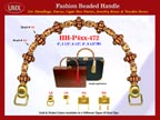 Wholesale Cigar Purse Handle Supply: HH-Pxx-472 With Wholesale Bone Beads and Wholesale Bali Beads