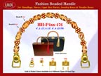 Wholesale Wood Purses Handle Supply: HH-Pxx-476 With Wholesale Bone Flower Beads and Wholesale Designer Beads
