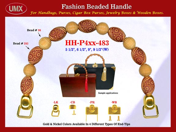 Cigar Box Purse Making Hardware, Supplies, Accessories: Wholesale Designer Cigar Box Purses Handle: HH-Pxx-483