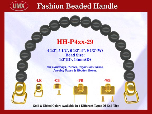 HH-P4xx-29 Stylish Beaded Purse Handle For