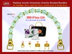 Jade Gemstone Beads, Acrylic Jade Beads For Women's Spring Handbag Handle: HH-Pxx-536