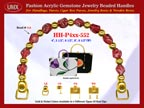 Garnet Jewelry Beads, Acrylic Garnet Beads For Women's Silk Handbag Handle: HH-Pxx-552
