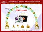 Jade Jewelry Beads, Acrylic Jade Beads For Women's Fashion Handbag Handle: HH-Pxx-554