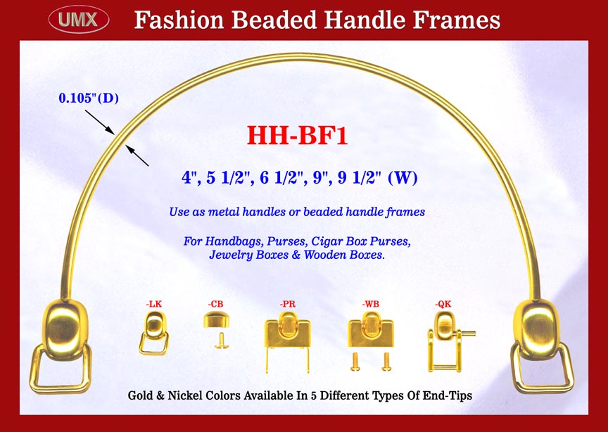 Gold Color: Metal Handbag and Purse Handle For Fashion Designer