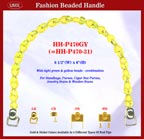 Beaded handbag handle hh-p470gy