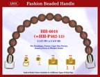 Beaded wood handbag handle hh6018