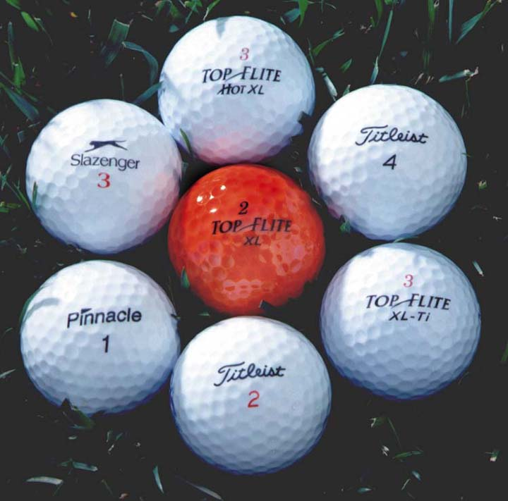 pearl grade experienced golf balls