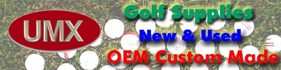 UMX golf balls, blank golf balls, golf clubs, golf tees, golf putts, golf gifts