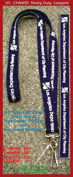 LY404 - 5/8 inch lanyards-los angeles department of city planning