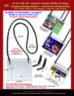 Super low cost pre-assembled ID  holder lanyard package.