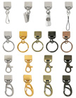 Ez-Adjustable Lanyard Hardware Supplies: Adjutable Swivel Hooks, Badge Clips, Key Rings, Cell Phone Connectors and Snap Hooks.
