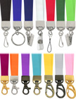 Ez-Adjustable Plain, Non-Printed or Blank Lanyards: Variable Length Lanyards With Belt or Hat Straps Style of Cam Buckles.